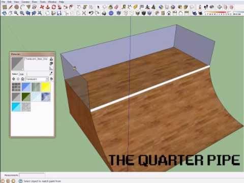 Sketchup Tutorial 1 – Quarter Pipe