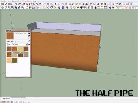Sketchup Tutorial 2 – Half Pipe