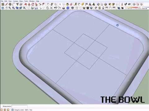Sketchup Tutorial 3 – The Bowl