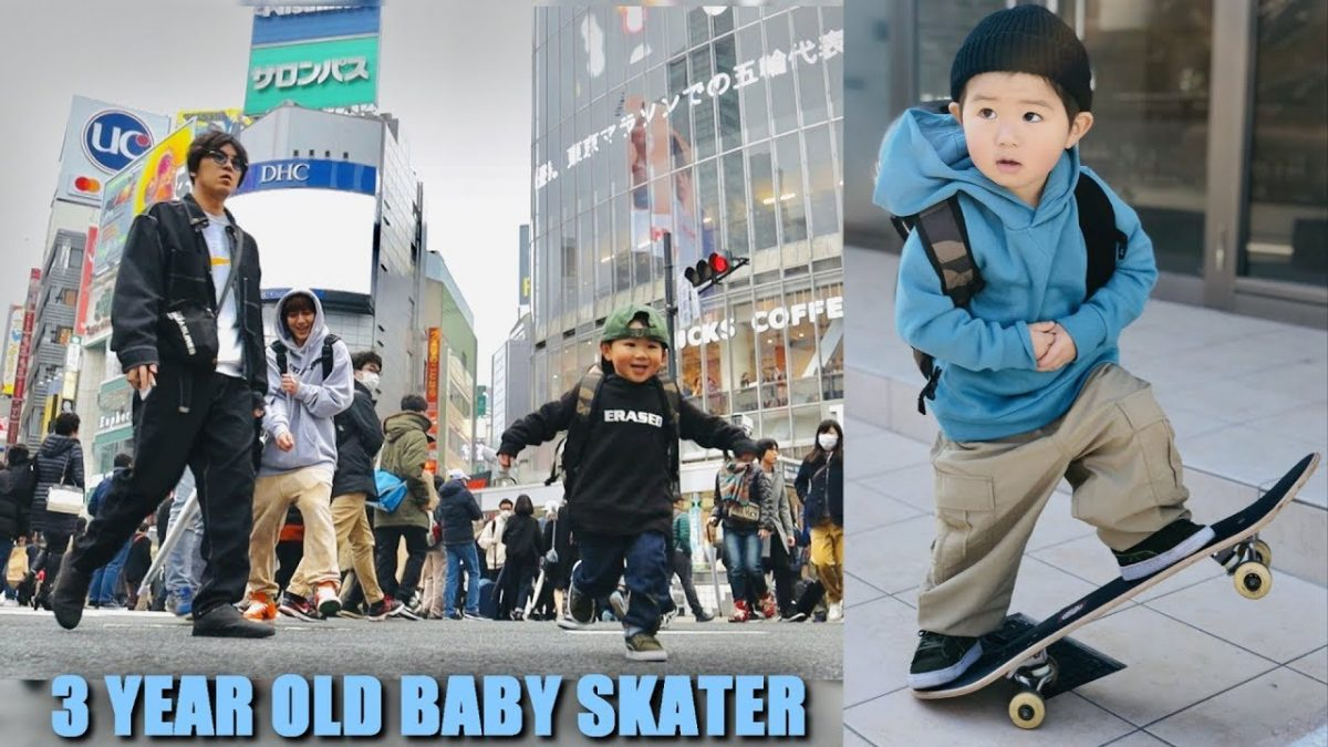 3 YEAR OLD SKATER IN TOKYO