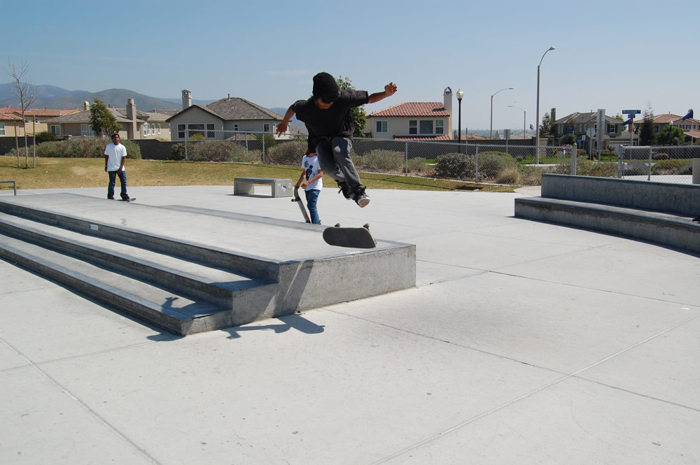 360 Flip off of a ledge in Chula Vista