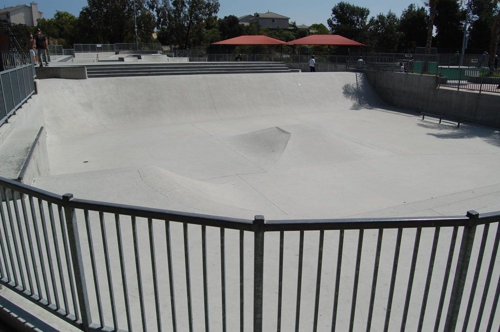 pyramid at the Len Moore skatepark